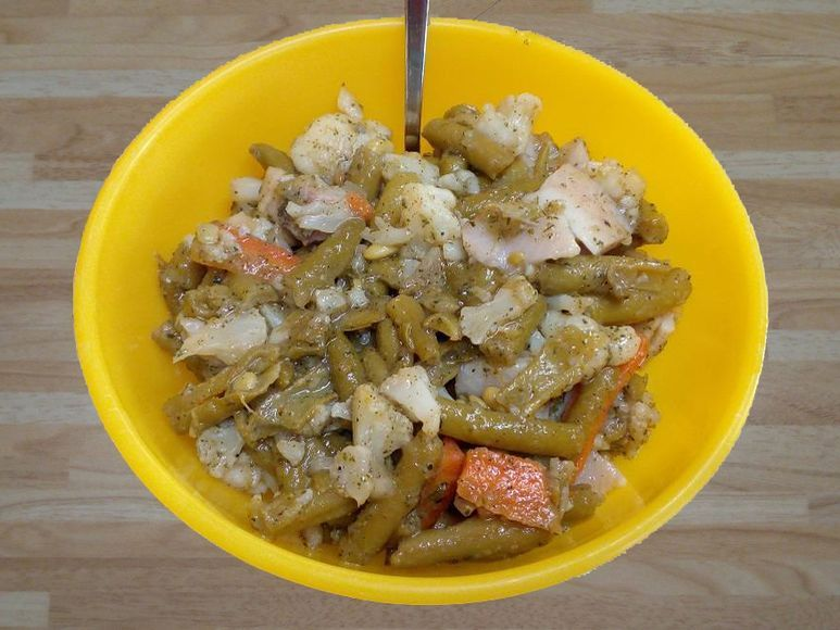 Bohnensalat mit Brennesseldressing vegan - 171