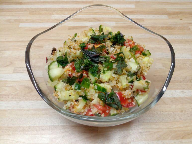 Bunter Bulgur-Salat vegan - 174