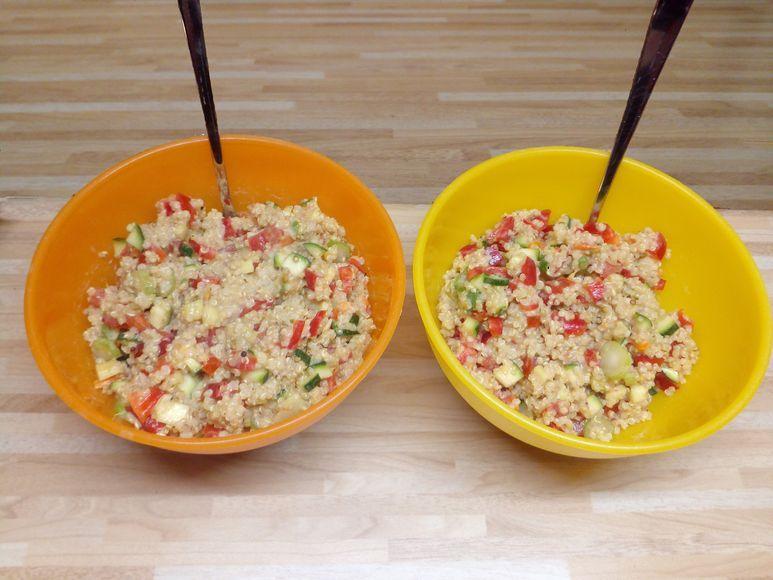 Bunter Quinoa-Salat vegetarisch - 175