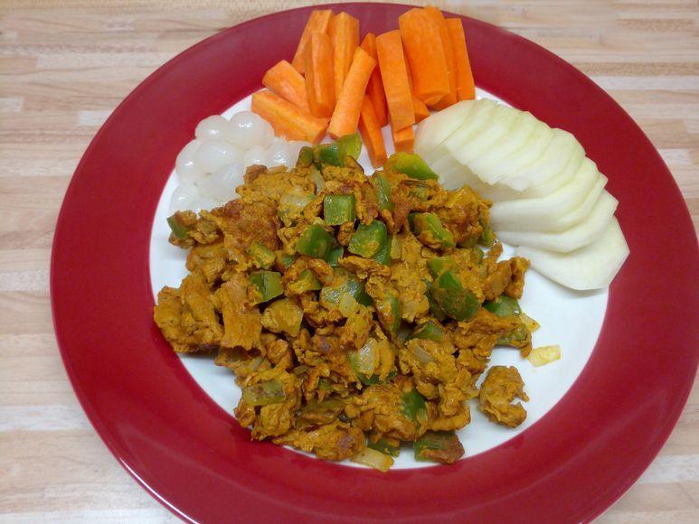 Gemüserührei aus der Pfanne (Beilage) vegetarisch - 105