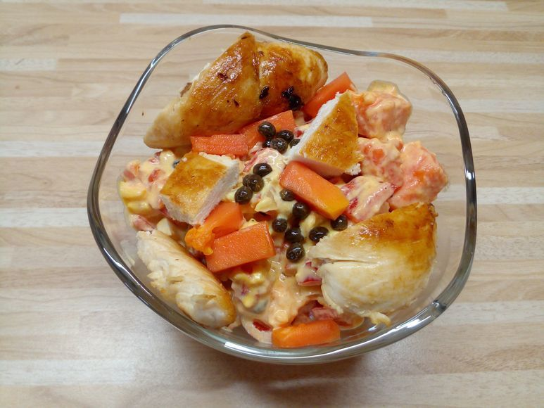 Hähnchensalat mit Papaya - 185