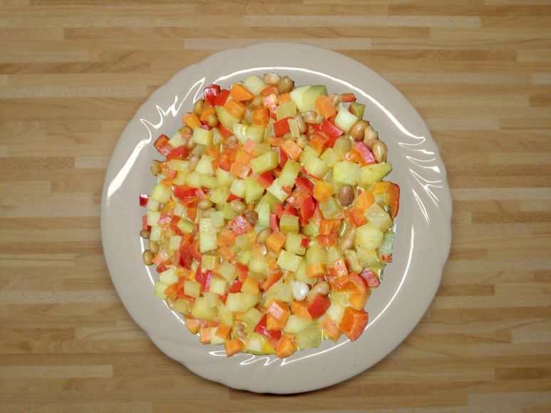 Kohlrabigemüse mit Erdnüssen vegan - 116