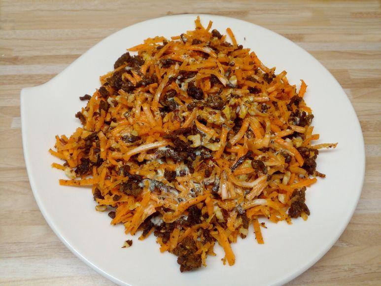 Möhren-Hackfleisch-Salat mit Haselnüssen - 198