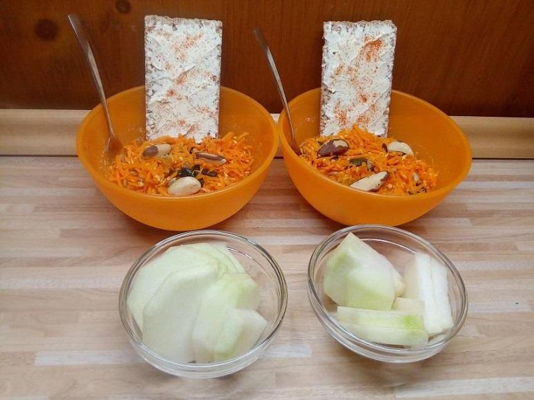 Möhrenkernsalat mit Fingerfood vegetarisch - 203