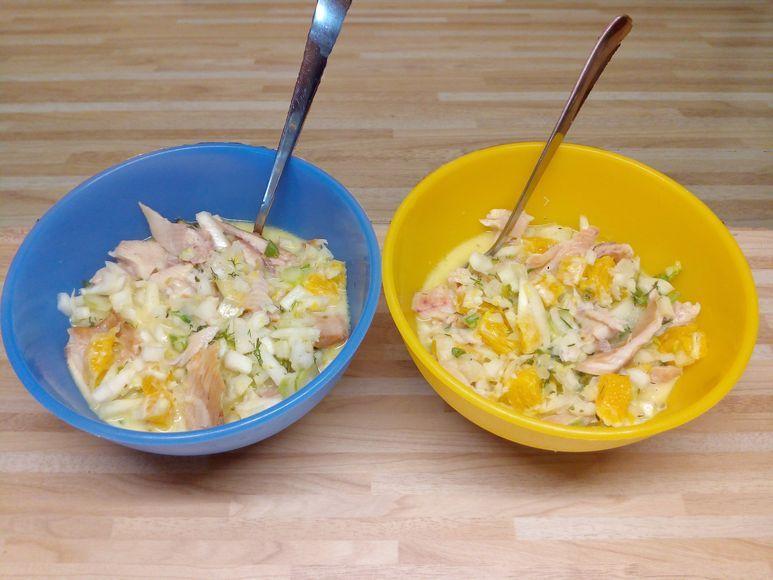 Orangen-Fenchel-Salat mit Räucherfisch - 205
