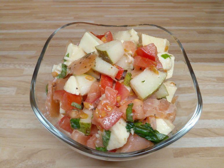 Räucherlachs auf Tomatensalat - 208