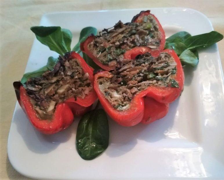 Vegetarisch gefüllte Paprikaschoten vegetarisch - 158