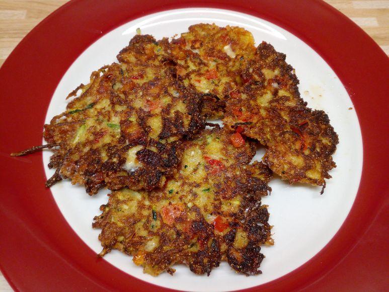 Zucchinipuffer mit Zwiebeln vegetarisch - 162